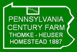 Pennsylvania Century Farm Sign